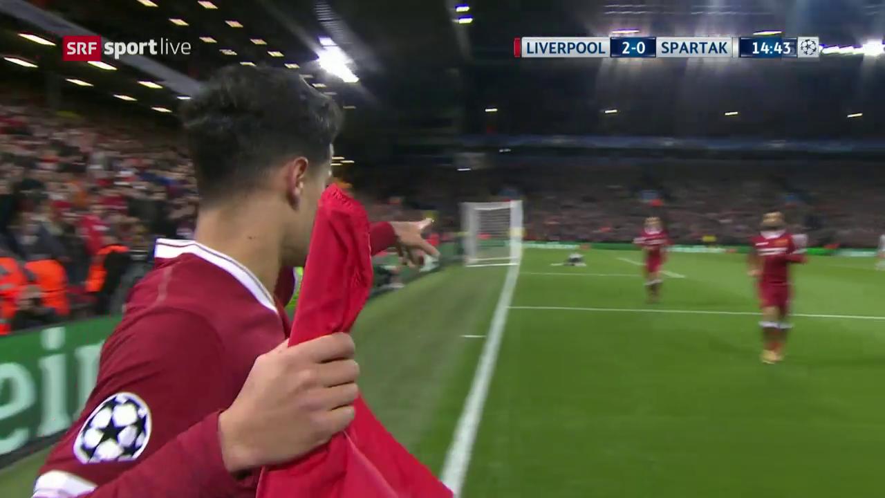 Die Live-Highlights bei Liverpool gegen Spartak
