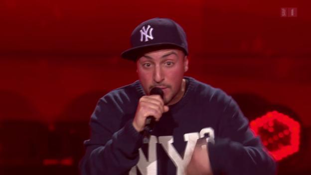 Video «Cristian Archetti - Rap-Performance - DJ BoBo drückt den goldenen Buzzer» abspielen
