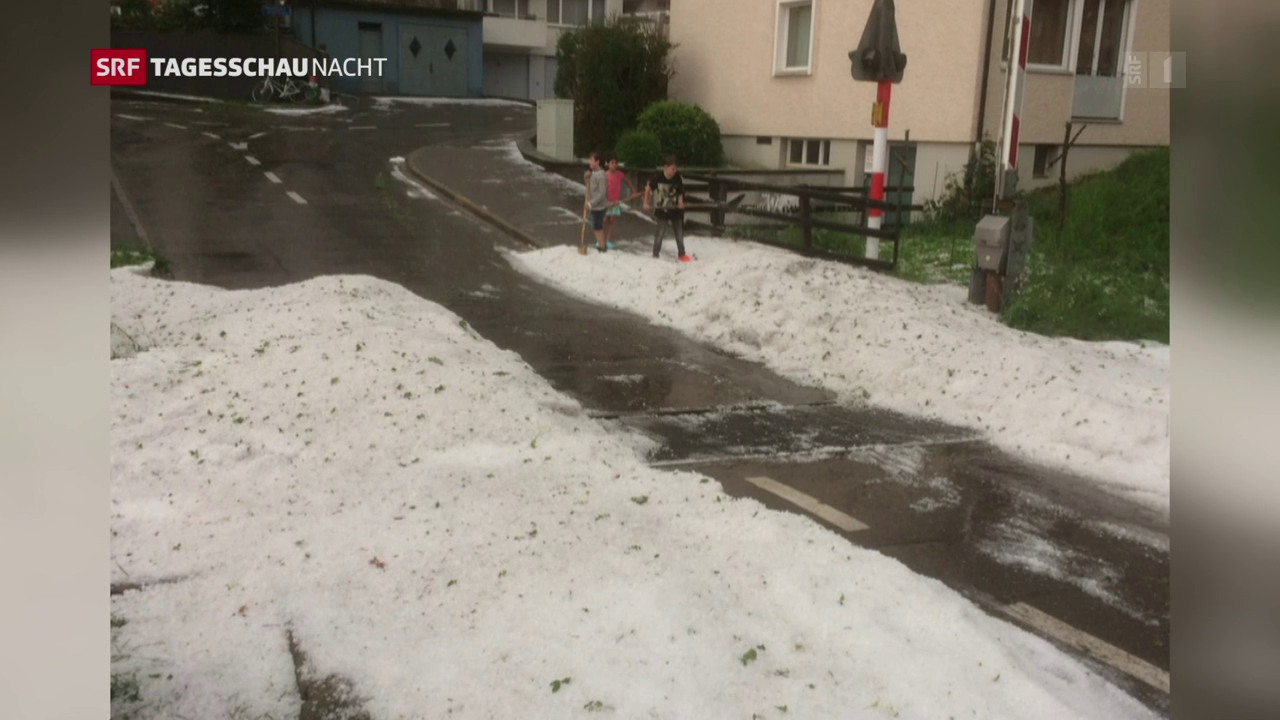 So heftig war das Unwetter über der Schweiz