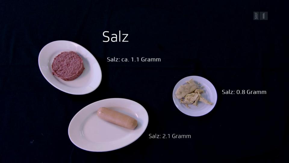 Beim Salzgehalt fällt die Wurst aus dem Rahmen und liegt sehr nahe beim fleischlichen Original.