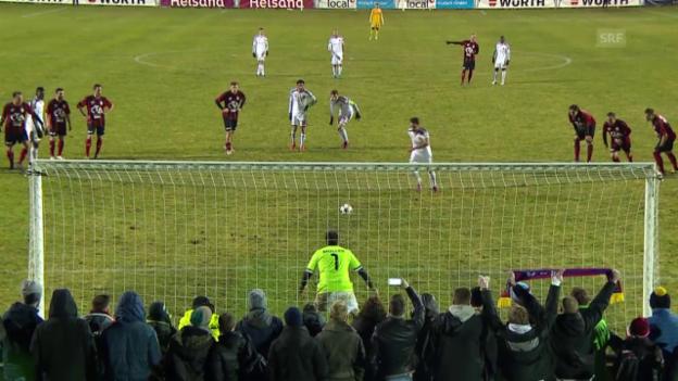 Video «Fussball: Cup-Viertelfinal, Basel schlägt Münsingen» abspielen