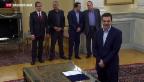 Video «Tsipras findet nach Wahlsieg Regierungspartner für Koalition» abspielen