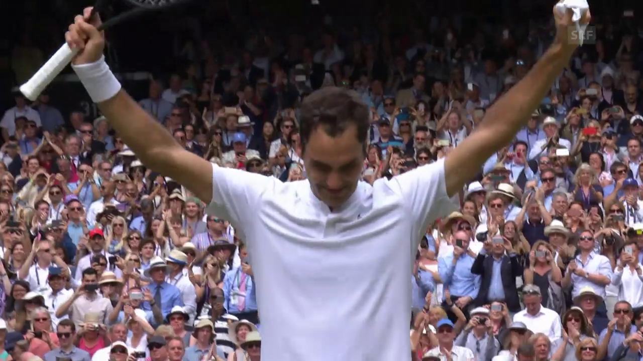 Die Live-Highlights von Federer - Cilic