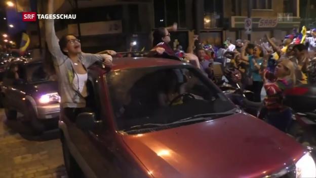 Video «Symbolische Abstimmung über Maduros Verfassungsreform» abspielen