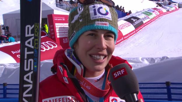 Video «Ski: Interview mit Dominique Gisin» abspielen