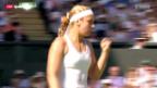 Video «Tennis aus Wimbledon: Lisicki - Radwanska» abspielen