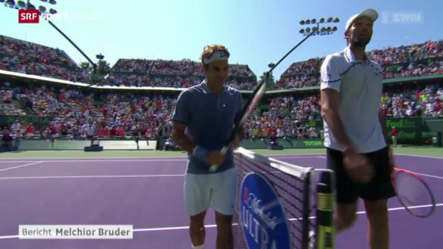 Video «Tennis: Federer - Karlovic» abspielen