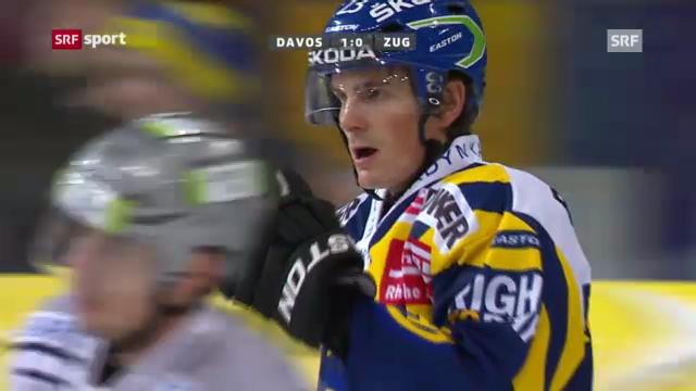 Eishockey: Davos - Zug (Beitrag «sportaktuell»)