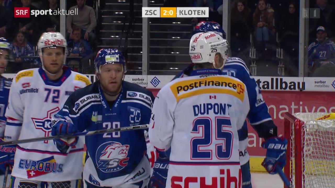Eishockey: NLA, ZSC Lions - Kloten Flyers