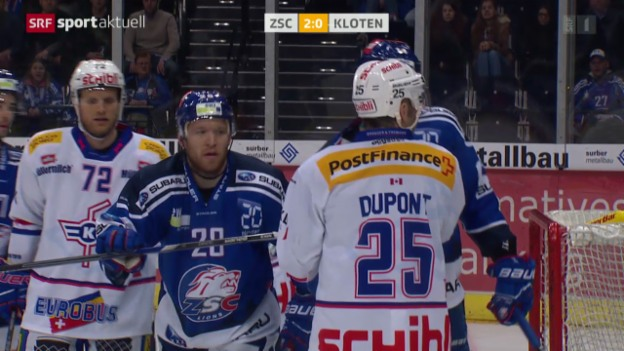 Video «Eishockey: NLA, ZSC Lions - Kloten Flyers» abspielen