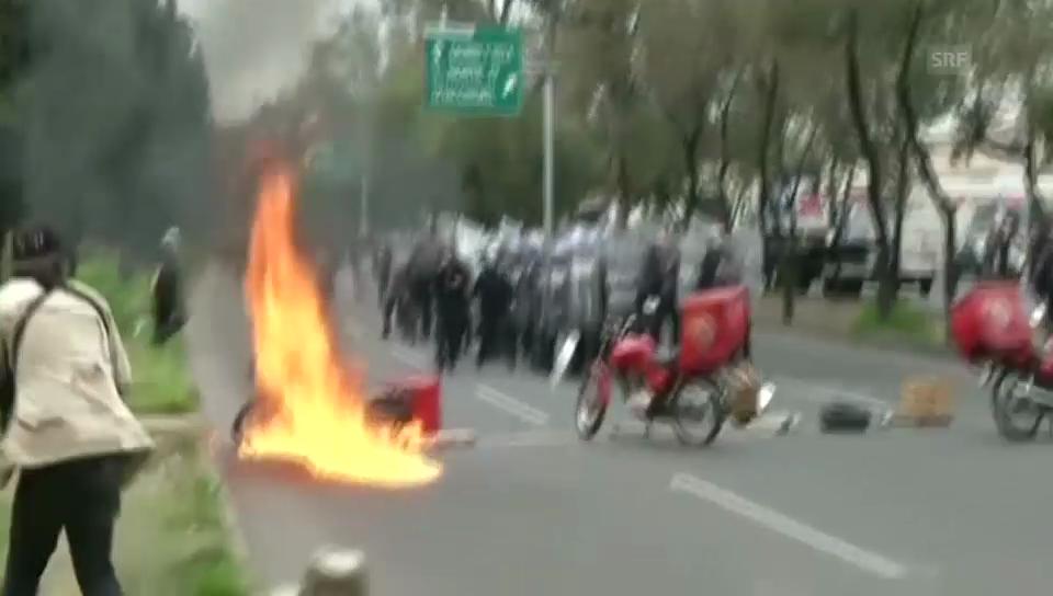 Gewaltwelle und Demonstration in Mexiko (unkommentiert)
