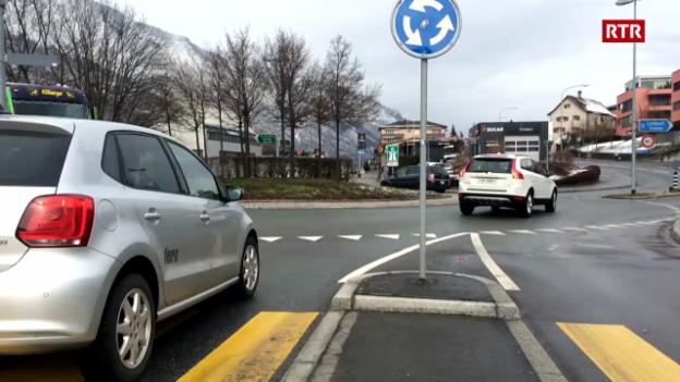 Laschar ir video «Il traffic a la rundella Cuira nord»