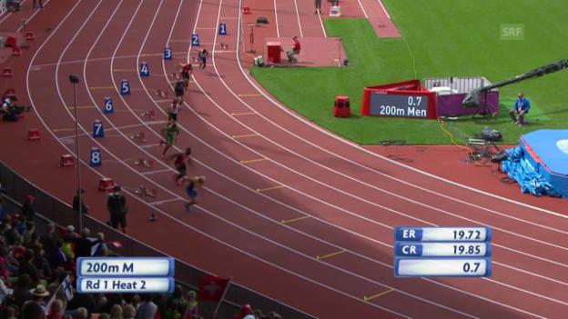 Video «LA: Der 200-m-Vorlauf von Alex Wilson» abspielen