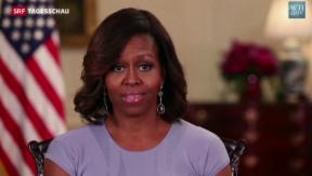 Video «Michelle Obama: Solidarität mit entführten Schulmädchen» abspielen