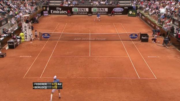 Video «Das Duell zwischen Federer und Berlocq in Rom 2012» abspielen
