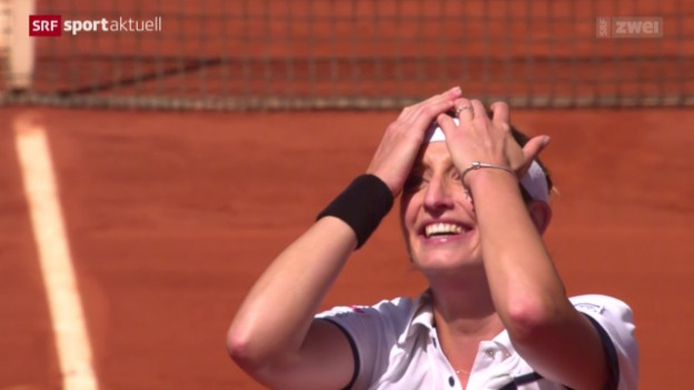 Video «Tennis: French Open, Viertelfinal Bacsinszky - Van Uytvanck» abspielen