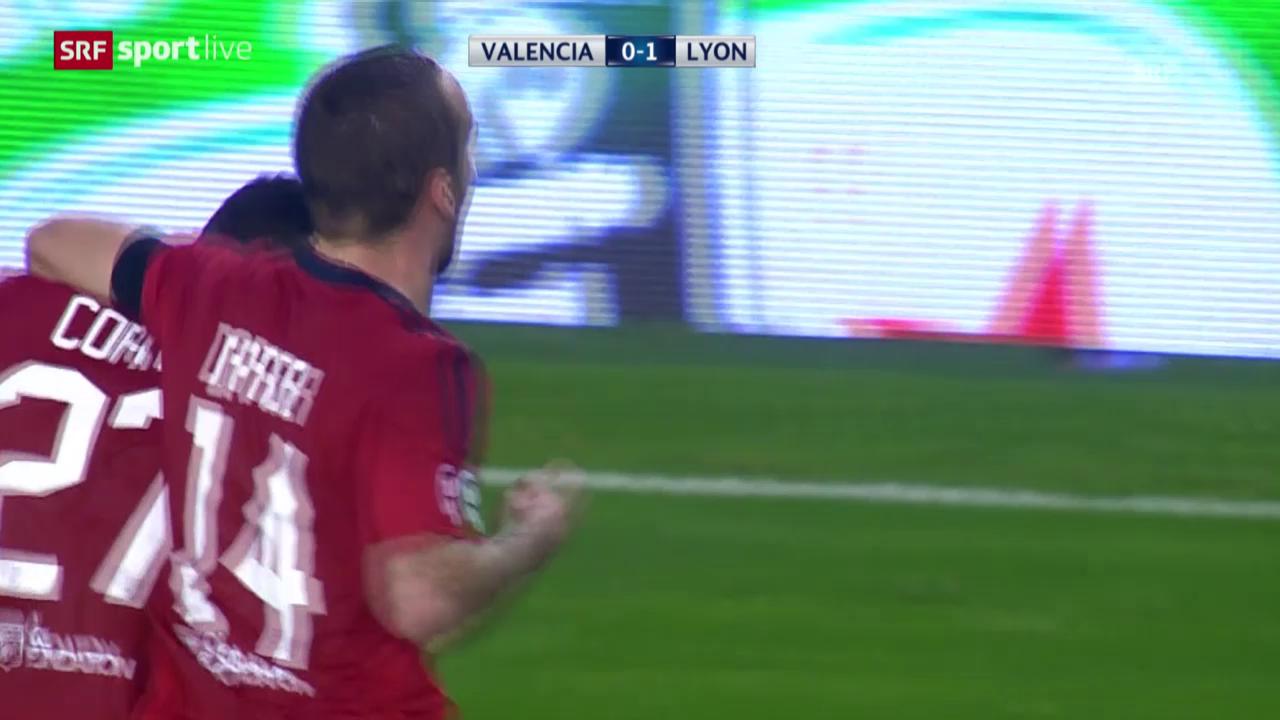 Fussball: CL, Matchbericht Valencia-Lyon