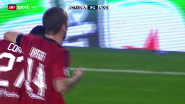Video «Fussball: CL, Matchbericht Valencia-Lyon» abspielen