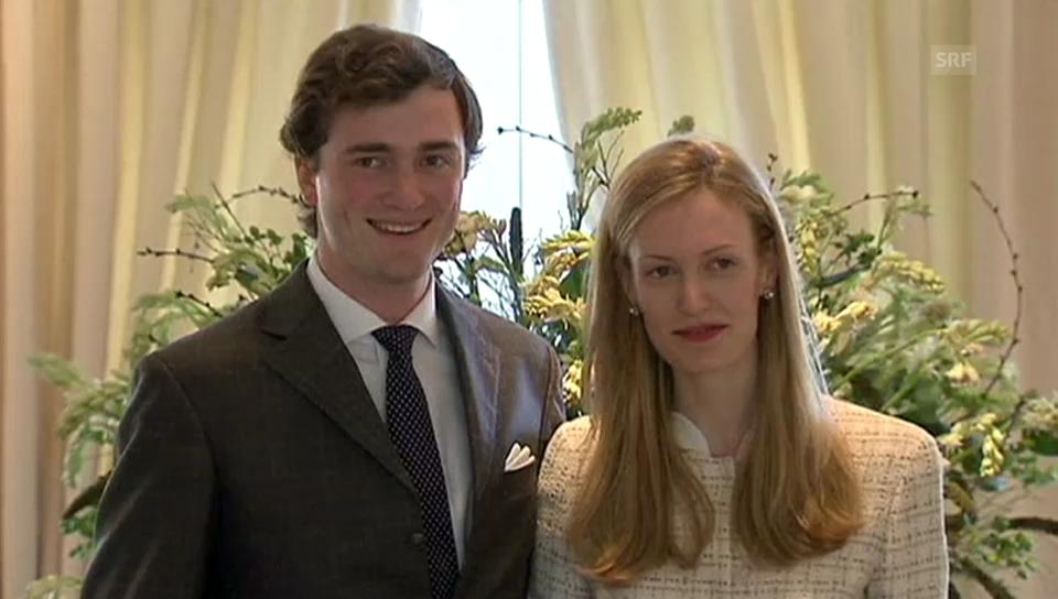 Prinz Amadeo von Belgiens Verlobung (unkommentiertes Video)