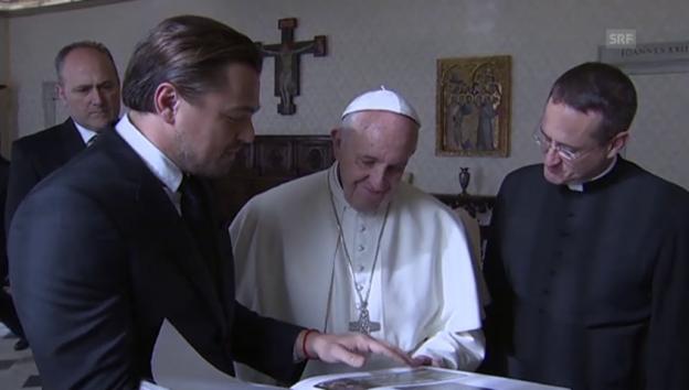 Video «Leonardo DiCaprio beim Heiligen Vater» abspielen