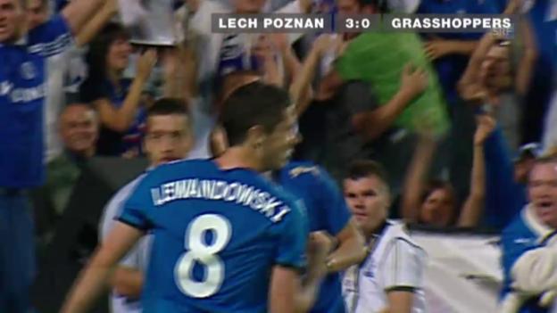 Video «Posens Kantersieg gegen die Grasshoppers («sportaktuell» vom 14.08.2008)» abspielen