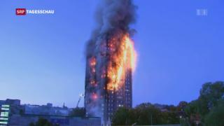 Video «Flammeninferno in Westlondon» abspielen