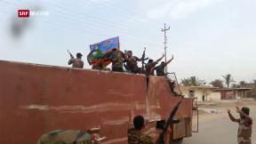 Video «Brutale Defensive der Terrormiliz «IS» in Mossul» abspielen