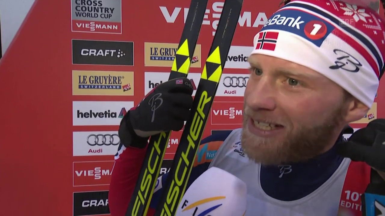 Langlauf: Tour de Ski, Interview mit Martin Johnsrud Sundby