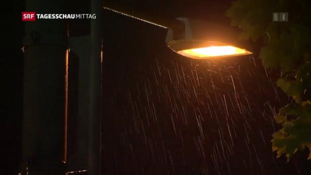 Video «Erneut zogen heftige Gewitter durch die Schweiz» abspielen