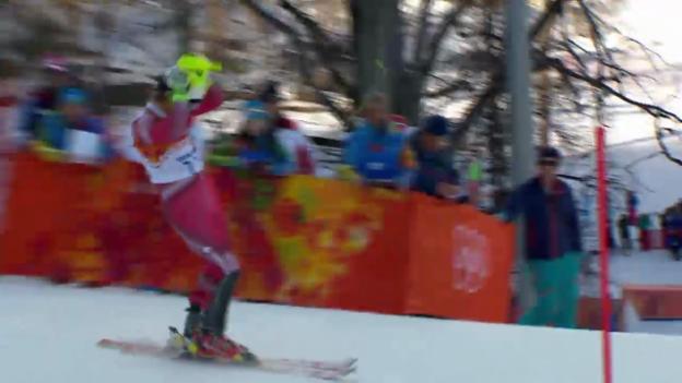Video «Ski, Kombinations-Slalom, Fahrt von Mauro Caviezel (sotschi direkt, 14.02.14)» abspielen