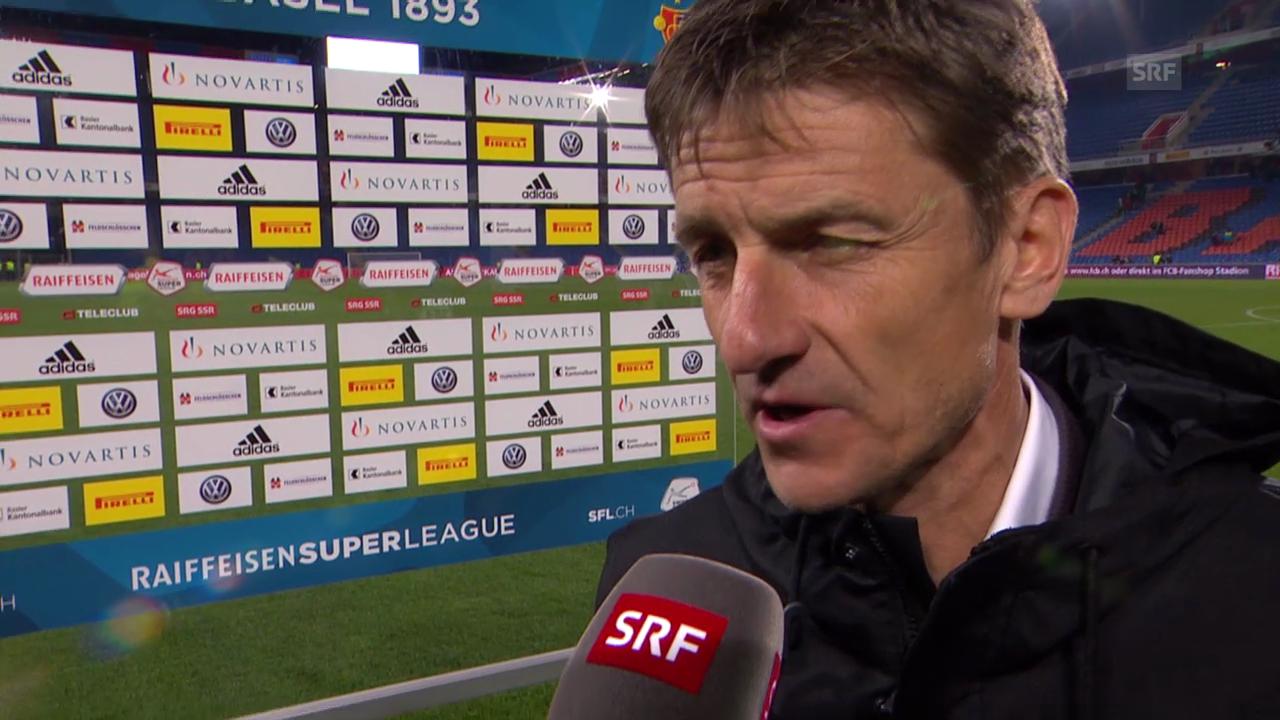 Fussball: Super League, Basel - Zürich, Interview Urs Meier