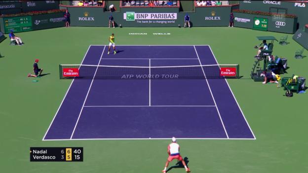 Video «Nadal mit Power-Tennis gegen Verdasco» abspielen