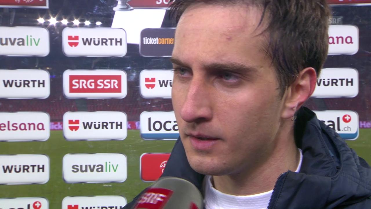Fussball: Cup-Halbfinal, FCZ - GC, Interview mit Mario Gavranovic