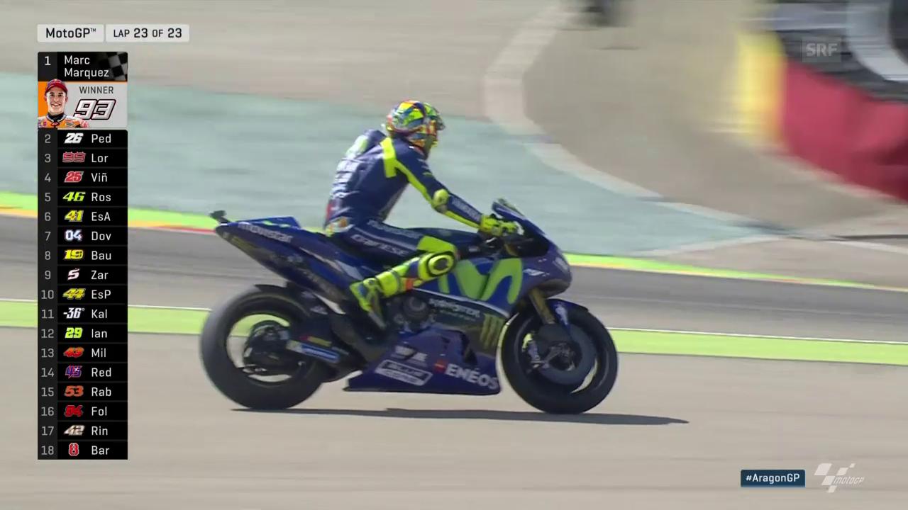 Die Entscheidung im MotoGP-Rennen