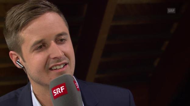 Video «Spengler Cup: Gesprächsgast Tom Lüthi über unerlaubten Körperkontakt» abspielen