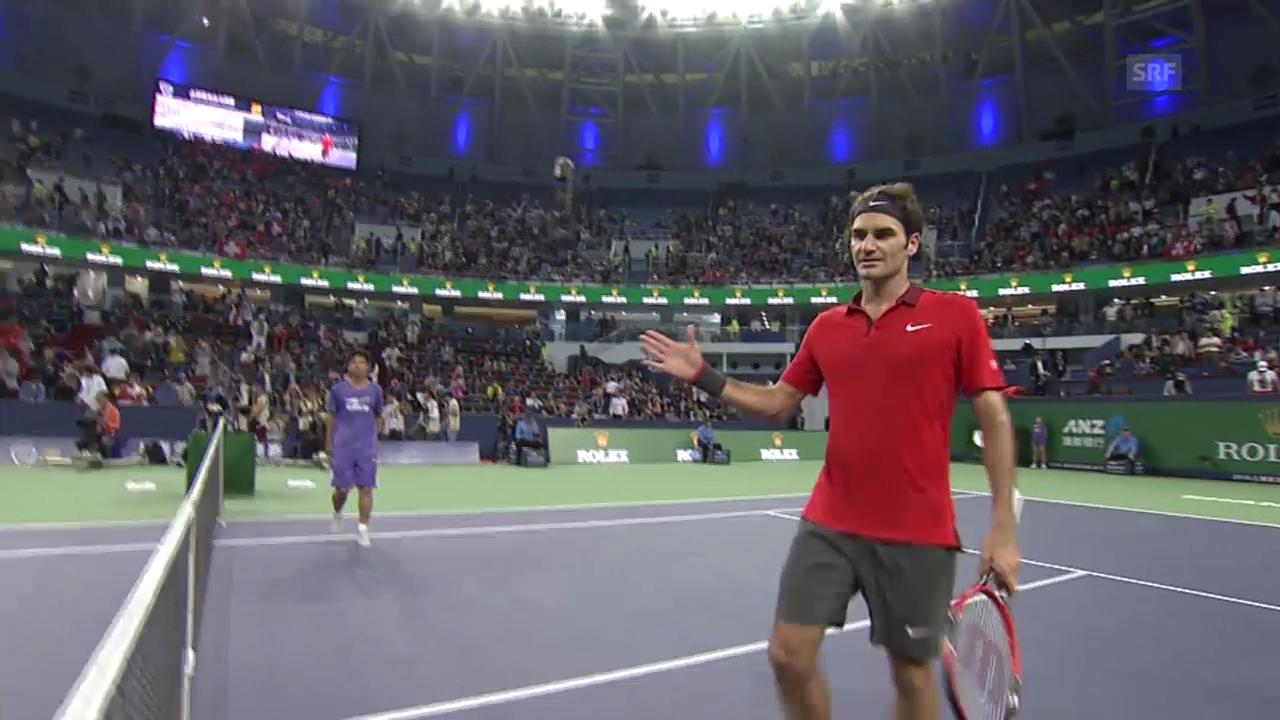 Tennis: Schanghai, Federer - Bautista-Agut