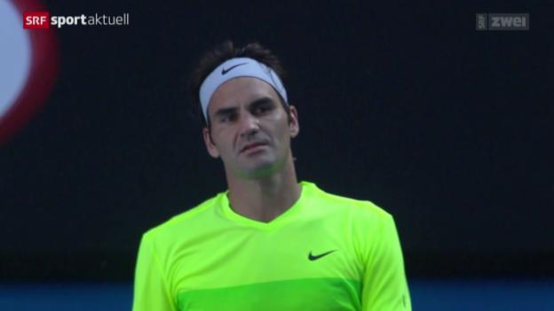 Video «Tennis: Australian Open, 3. Runde, Federer - Seppi» abspielen