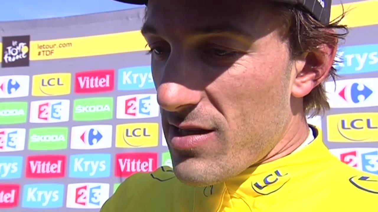 Cancellara im Schlussprint: Erst bremsen, dann Top-Speed