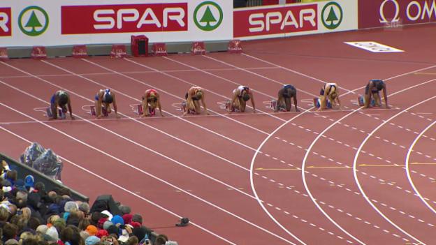 Video «Leichtathletik-EM: Der 100-m-Final der Frauen» abspielen