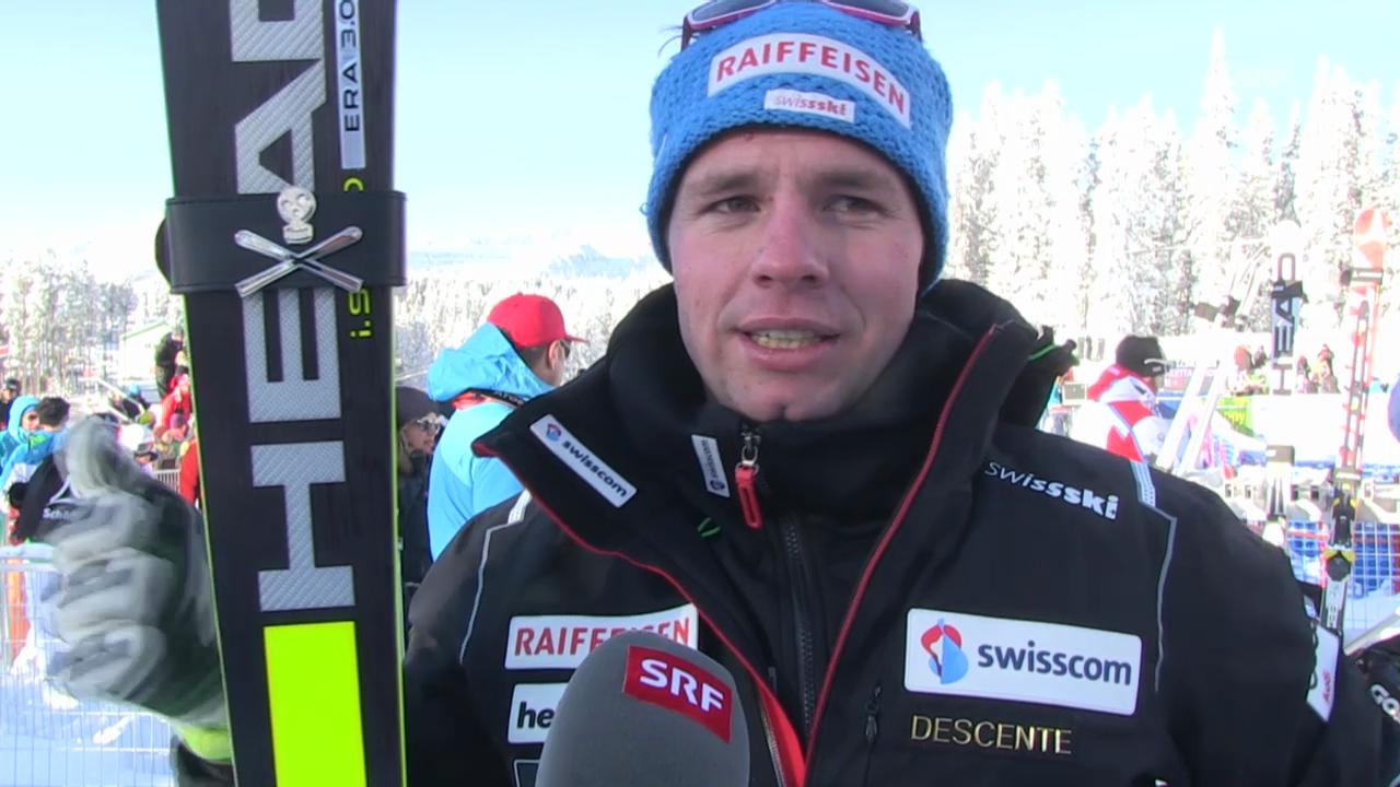 Ski Alpin: Abfahrt Lake Louise, Interview Beat Feuz