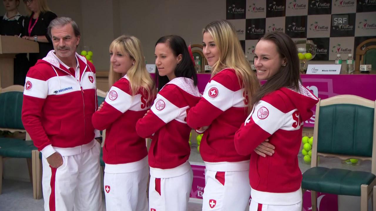 Die Schweizerinnen vor dem Fedcup-Halbfinal