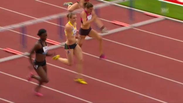 Video «100 m Hürden Frauen (B-Serie)» abspielen
