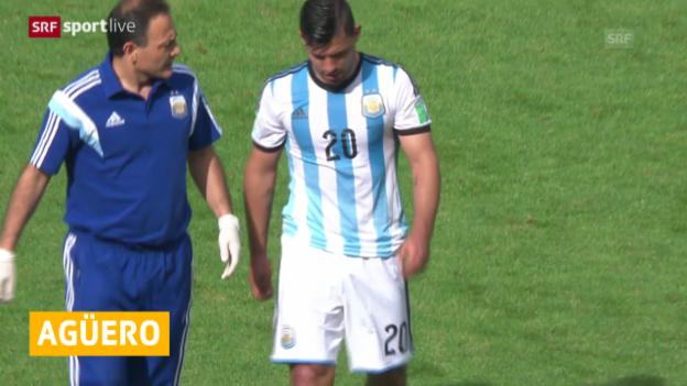 Video «FIFA WM 2014: Agüero fällt aus» abspielen