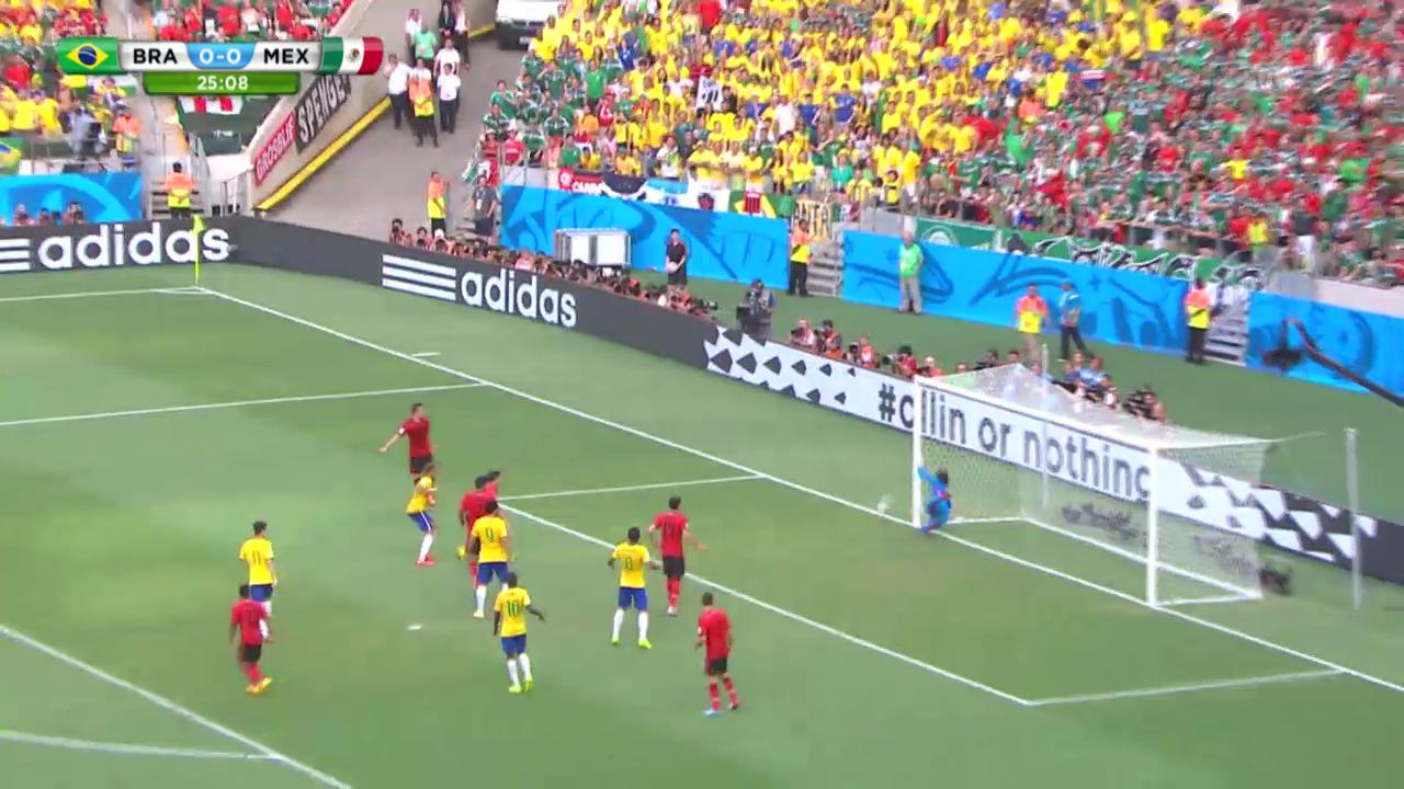 Fussball: Highlights Brasilien - Mexiko