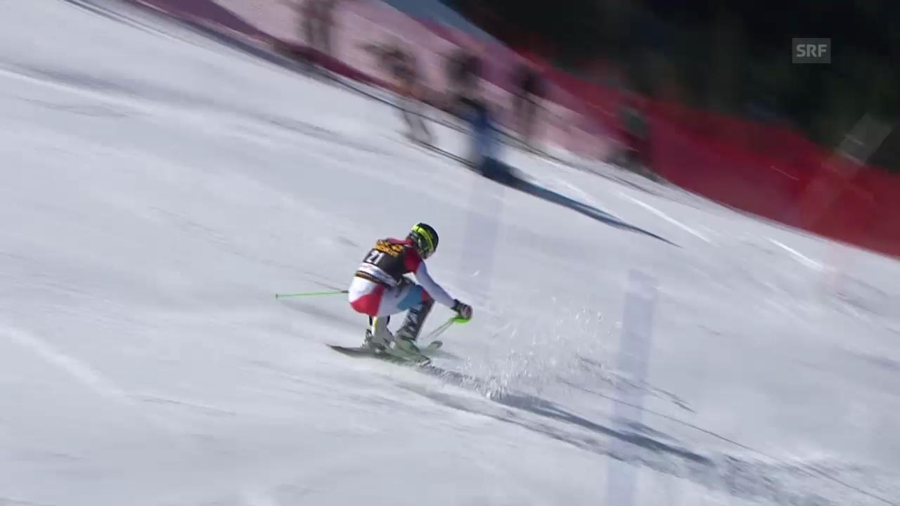 Ski Alpin: Slalom Kranjska Gora, Das Out von Luca Aerni («sportlive», 9.3.2014)