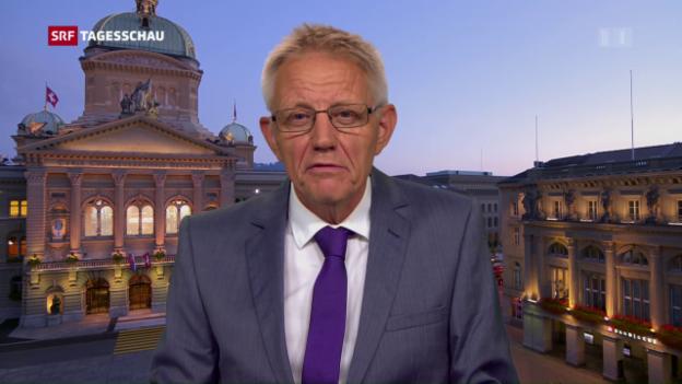 Video «Einschätzungen von SRF-Bundeshausredaktor Hanspeter Trütsch» abspielen