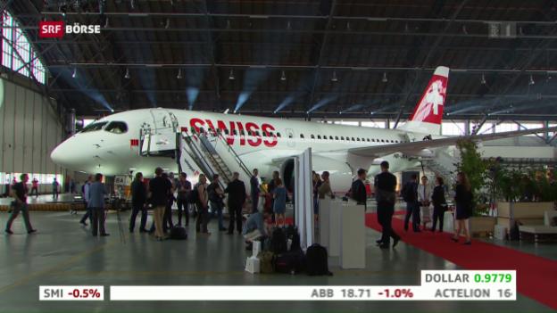 Video «Swiss präsentiert neuen Flieger» abspielen