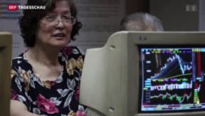 Video «Kleinanleger in China spekulieren weiter» abspielen