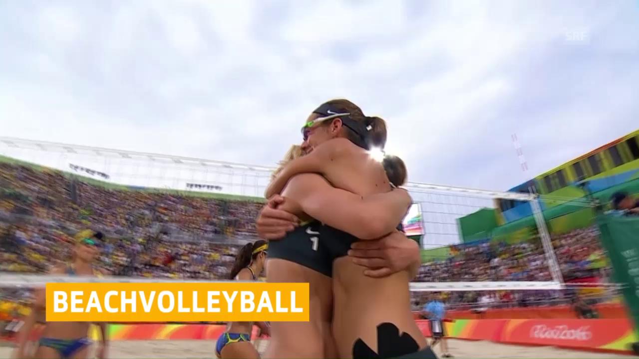 Ludwig/Walkenhorst eliminieren Agatha/Barbara im Halbfinal