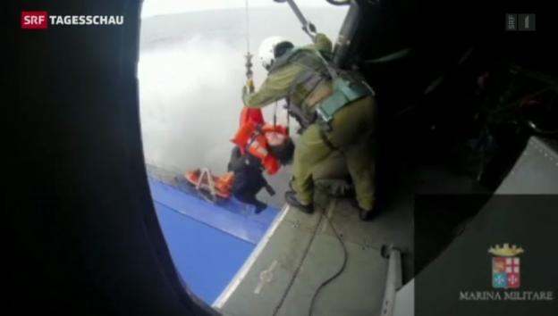 Video «Adria-Rettung unter äusserst schwierigen Bedingungen» abspielen